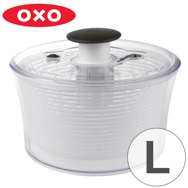 OXO (オクソー) クリア サラダスピナー 大 野菜水切り器