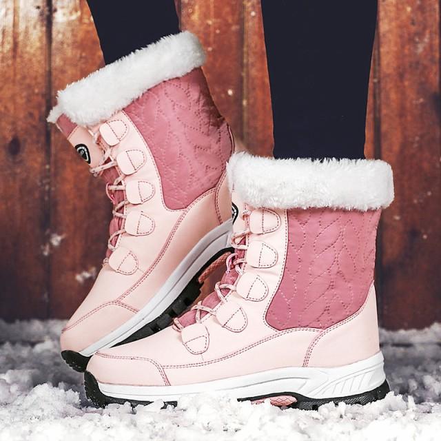 冬新作 ブーツ 雪靴 裏起毛 スノーシューズ 防寒靴 アウトドア靴 レディース 靴 ムートンブーツボア 裏起毛 防滑 暖か雪靴 レディース高