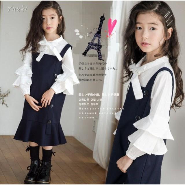 22f18e5ef2766 入学式 子供 2点セット ワンピース 女の子 スーツ 卒園式 ドレス フォーマル ワンピース 女児