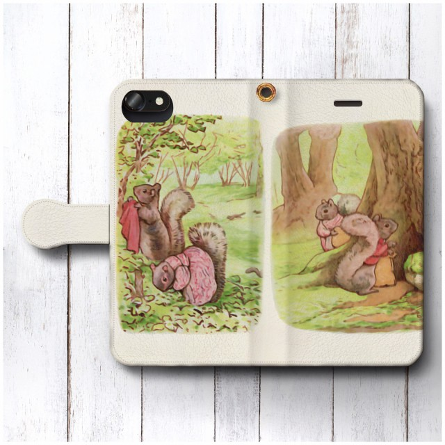 iPhoneSE ケース スマホケース 手帳型 絵画 全機種対応 ケース 人気 あいふぉん ケース 丈夫 耐衝撃 つまさきチミー ピーターラビット1