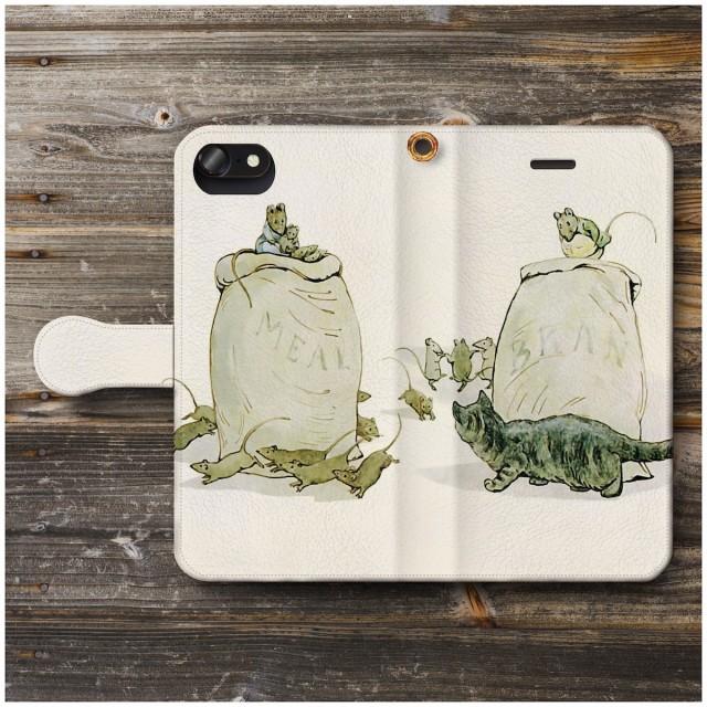 スマホケース 手帳型 ピーターラビット ひげのサムエルのおはなし1 全機種対応 スマホカバー 人気 絵画 TPU レザー 個性的 携帯ケース