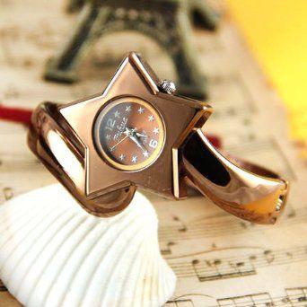 腕時計 星型 文字盤 バングル風