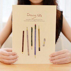 のイラストがとってもオシャレなノートです。 全て白紙なのでスケッチブックにいいですね。他にもイラスト付きの日記を書いたり、写真と一緒に レシピノートとして.