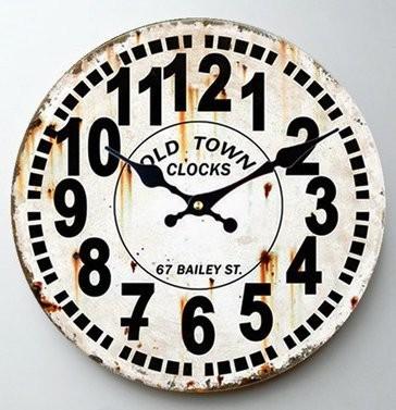 【お取り寄せ】掛け時計 ビンテージ風 シンプル 文字盤 サビ感あり