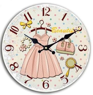 【お取り寄せ】掛け時計 洋服と雑貨 イラスト 文字盤