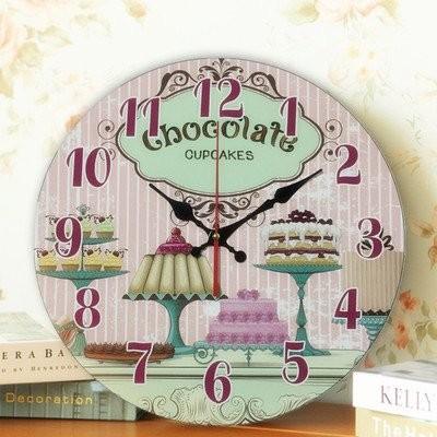 【お取り寄せ】掛け時計 スイーツ ケーキ チョコレート カラフル文字盤