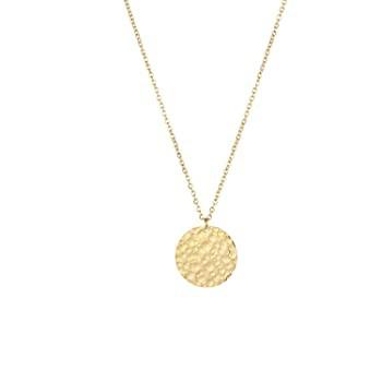 ミニマリストネックレス 上品なミニ 小さな月 ペンダント ネックレス ディスク コイン 金メッキ チョーカー 調節可能なロングチェーンネ