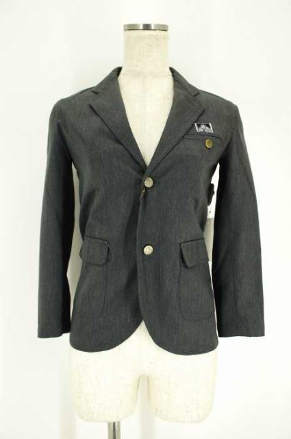 BEN DAVIS(ベンデイビス) 2Bジャケット 130 グレイ レディース【バズストア 古着】【中古】
