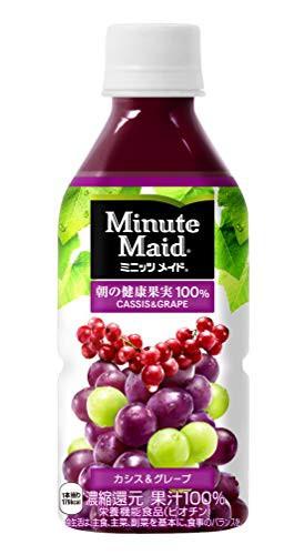 コカ・コーラ ミニッツメイド 朝の健康果実 カシス グレープ 果汁100% 350mlPET×24本