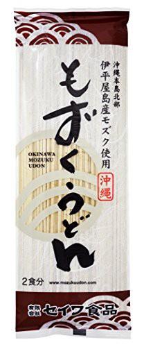 (有)セイワ食品 沖縄磯割り もずくうどん 160g(2食分)×30束