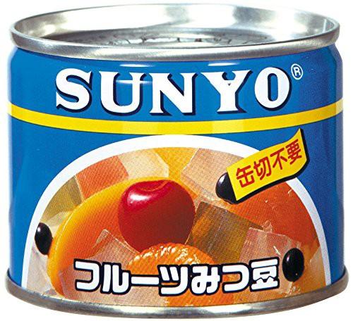 サンヨー フルーツみつ豆 195g×24缶 EO 6号缶 1ケース