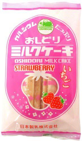 日本製乳 おしどりミルクケーキ いちご 8本×10袋