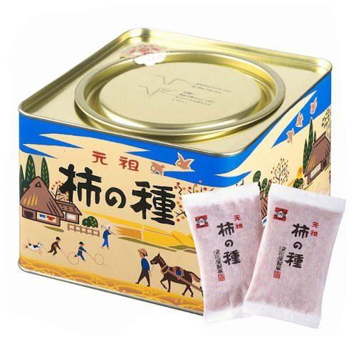 浪花屋製菓 元祖 柿の種 27g×12袋 レギュラー缶(包装済み) K10