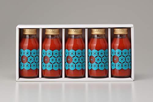 北海道 最高級 トマトジュース (180ml 5本) 食塩無添加 プレミアム ギフト [並行輸入品]