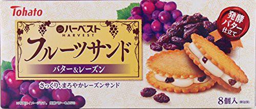 東ハト ハーベストフルーツサンドバター レーズン 8個×5箱