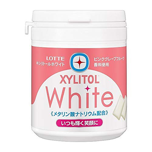 ロッテ キシリトールホワイト ピンクグレープフルーツ ファミリーボトル 143g×6個入