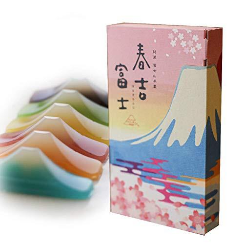 明治食品工業 春吉富士 富士山羊羹 6つの味 30g×6個 (小豆 青柚子 ニューサマーオレンジ 桜葉 枇杷 塩 各1個)ギフト向け