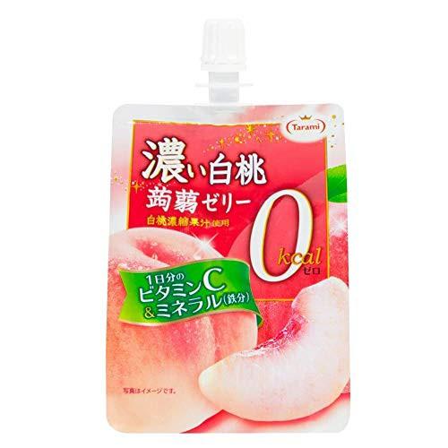 たらみ 濃い白桃0kcal 蒟蒻ゼリー 150g × 6個