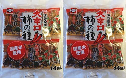 元祖 浪花屋 大辛口柿の種 徳用袋(16g×14袋 )×2袋