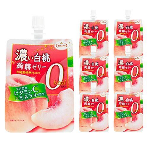 たらみ 濃い 白桃 0kcal 蒟蒻ゼリー 150g 30個セット