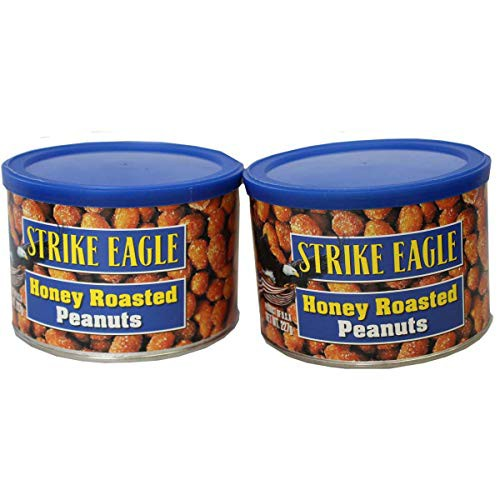 【2缶セット】ハニーローストピーナッツ227gx2缶 ストライクイーグル アメリカ産 Strike Eagle Honey Roasted Peanu