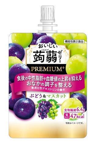 たらみ おいしい蒟蒻ゼリー PREMIUM+ ぶどう&マスカット 150g×6個