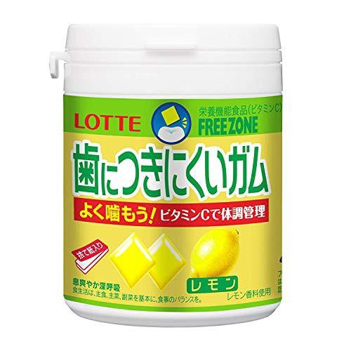 ロッテ 歯につきにくいガム(レモン)ボトル 138g×3個セット