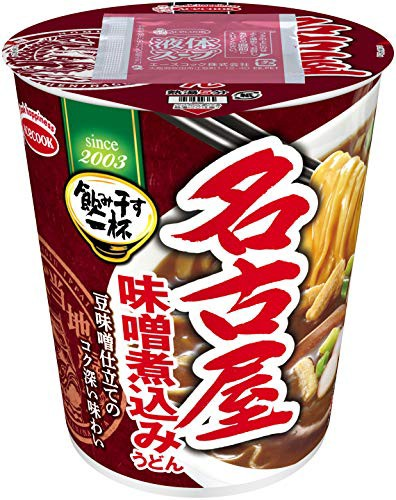 エースコック タテ型 飲み干す一杯 名古屋 味噌煮込みうどん 68g ×12個