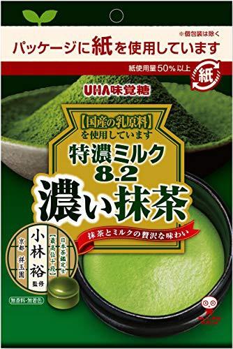 UHA味覚糖 特濃ミルク8.2 抹茶 75g ×6袋