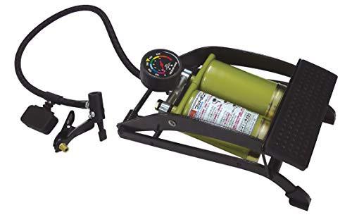 エマーソン フットポンプ ダブル 新SG規格適合品 最大使用圧力500kPa 高剛性フレーム 付属アダプター(自転車用・ゴムボール用・レジャー