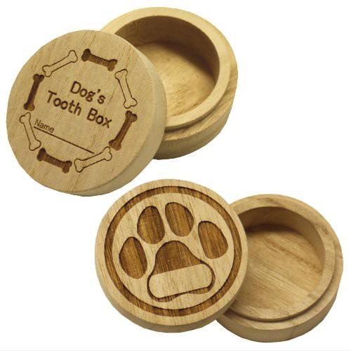 犬用(小型犬)桐製乳歯ケース【高級桐天然木使用】/マルチケースとしてもお使いいただけます。 (ボーン)