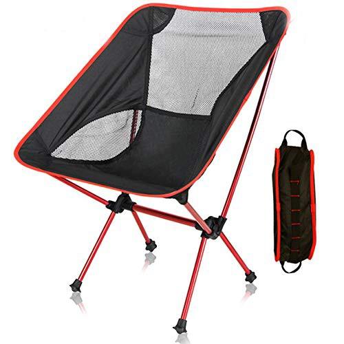 【アウトドアチェア・キャンプ用品】Linkax コンパクトチェア アルミ合金 軽量 専用ケース付き (キャンプ椅子)