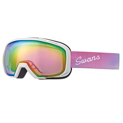 SWANS(スワンズ) スキー スノーボード ゴーグル くもり止め ミラーレンズ メガネ使用可 080-MDHS