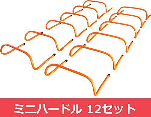 Aoakua トレーニングハードル ミニハードル 筋力 強化 12個セット