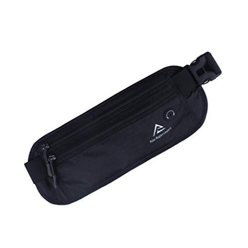 ウエストポーチ セキュリティポーチ スキミング 対策 RFID メンズ レディース 兼用 薄型 軽量 防犯 アウトドア 旅行 ジョギング 登山 遠