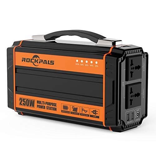 ポータブル電源 大容量 Rockpals 正弦波 64800mAh/240Wh 小型 発電機 軽量2.5Kg DC AC USB出力 予備電源 地震 キャンプ 車中泊 災害緊急