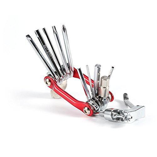 バイクメンテナンス 自転車工具セット 修理ツール 11イン1 多機能 折り畳む 携帯便利 耐久性 六角レンチ マルチツール