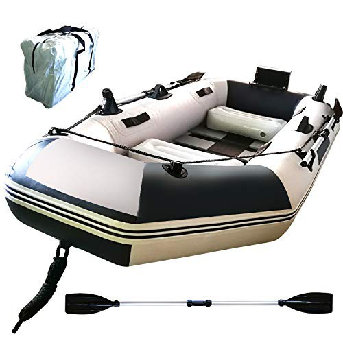 Hewflitフィッシングボート ゴムボート インフレータブル カヌー 2人/3人乗り 収納ケース付き 船外機可 釣り竿ホルダー 積載重量300kg 2