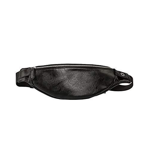 Whatna 3way 革 ボディバッグ・ワンショルダーバッグ メンズ ウエストポーチ 革 レザー イヤホン穴付き 斜め掛けバッグ スポーツバッグ