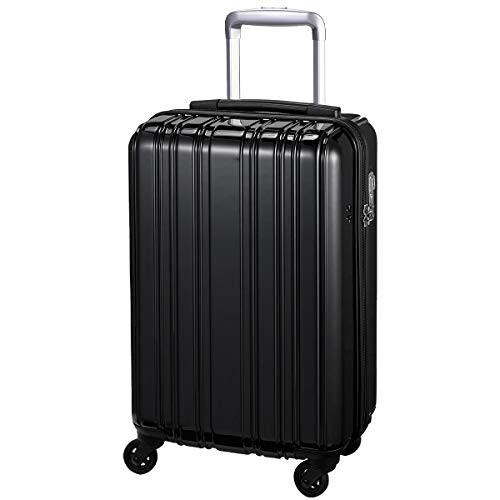 スーツケース 超軽量 1.9kg 機内持込 静音 1〜3泊 32L Sサイズ ブラック SiiiNLight シーンプラスライト
