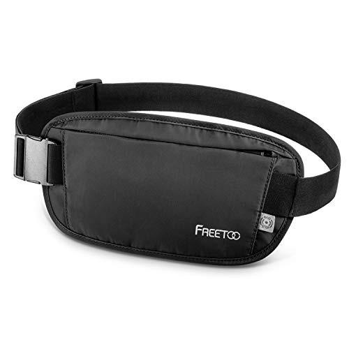 FREETOO セキュリティポーチ マネーベルト セキュリティ ウエスト RFIDブロッキング素材 肌触り良い パスポートバッグ 軽量 貴重品保管