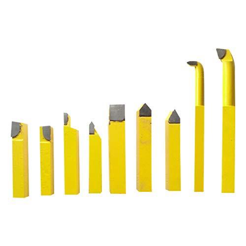 フェリモア 小型旋盤 切削 バイト 鉄用 ミニサイズ ロウ付き 刃付きバイト 金属加工 使い分け (2点セット)