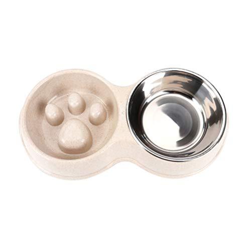 Balacoo ペット用食器 犬 猫用ボウル 早食い防止 食器 皿 餌入れ 滑り止め 小型 中型 犬猫用 給餌器 ゆっくり食べる食器