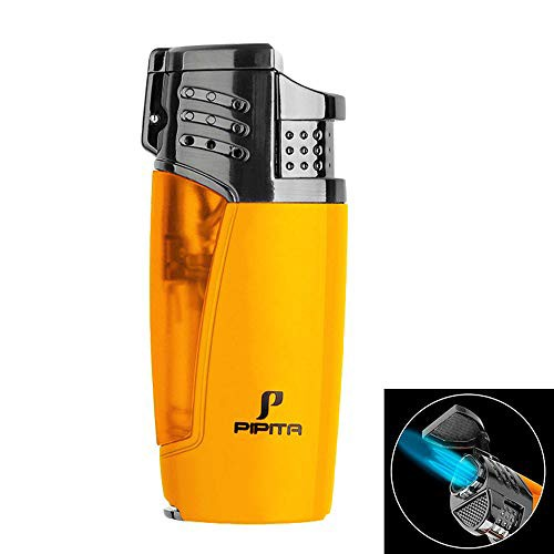【高い品質】PIPITA 葉巻 ライター ガスライター 注入式 ジェット ガス シガーライター 防風 充填式 直噴ターボライター トーチ・火起こ