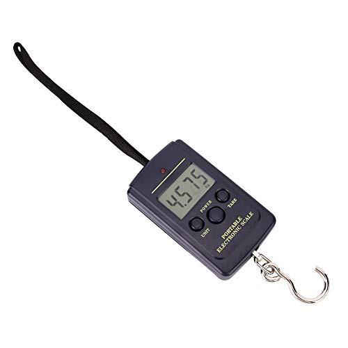 電子はかり 携帯式デジタル スケール 最大40kgまで量れる 風袋引き機能 LEDディスプレイ ラゲッジチェッカー 小型軽量 ABS トラベル/ア
