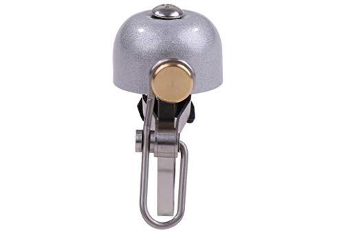 自転車 用 真鍮製 大音量 ベル RFIDケース付 レトノベル サウンドベル サイクリング ロードバイク ハンドル 固定 おしゃれ