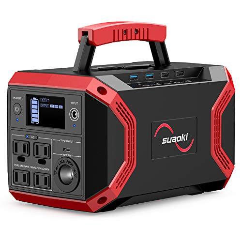 suaoki ポータブル電源 S370 大容量 322.56Wh/89600mAh 家庭用蓄電池 正弦波 PSE認証済み Power Delivery対応 4WAY充電 5WAY出力 AC(300