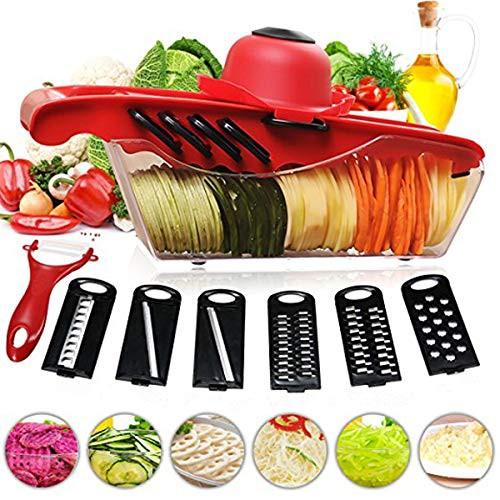 商品名NASOF 野菜カッター スライサー 調理器具 6機能 スライス 千切り 皮むき器 多機能スライサー 野菜スライサー キッチン用品 野菜調