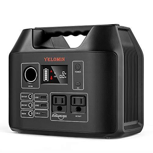 YELOMIN ポータブル電源R300 大容量 80000mAh/296Wh 家庭アウトドア両用バックアップ電源 純正弦波 小型軽量 ソーラー充電 PSE認証済 瞬