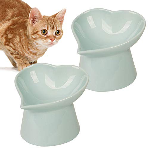 【 選べる2個セット 】iikuru 猫 食器 食べやすい 猫用 フード ボウル 陶器 ネコ エサ入れ 脚付 ねこ 餌 台 斜め 小型犬 餌入れ 皿 y624